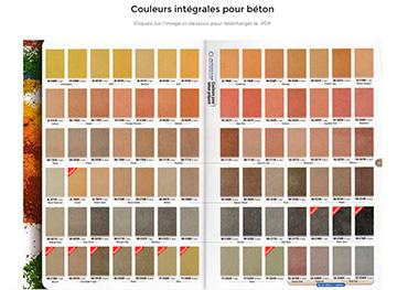 poudre estampage beton choix couleurs